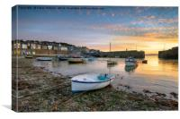 Sunrise at Mousehole in Cornwall, Canvas Print