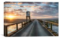 Sunrise over Holy Island, Canvas Print