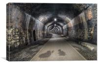 The Headstone Tunnel in Derbshire, Canvas Print