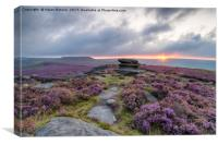 Over Owler Tor in the Peak District, Canvas Print
