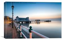 Dawn at Penarth Pier, Canvas Print