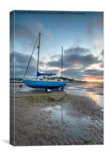 Sunset at Instow in devon, Canvas Print