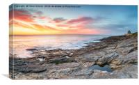 The Bathing House at Howick in Northumberland, Canvas Print