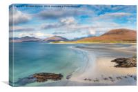 The View from Seilebost on the Isle of Harris, Canvas Print