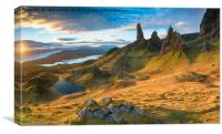 Stunning sunrise over the Old Man of Storr , Canvas Print