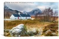 Glencoe in Scotland, Canvas Print