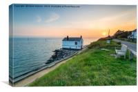 Sunset at Lepe, Canvas Print