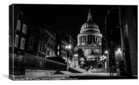 Night by the Cathedral, Canvas Print