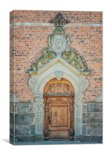 Kristianstad Church Doors, Canvas Print