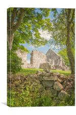 Rya Church Ruin, Canvas Print