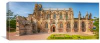 Rosslyn Chapel Panorama, Canvas Print