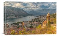 Kotor Church of Our Lady of Remedy Landscape, Canvas Print