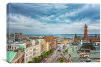 Helsingborg Town Hall From Above, Canvas Print
