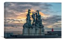 Statue of Heracles and the Hydra, Canvas Print