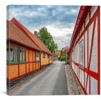 Ahus Street View, Canvas Print