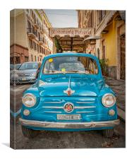 Classic Fiat 600 in Rome, Canvas Print