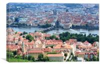 Prague Series - View From A Hill, Canvas Print