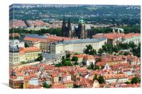 Prague Series - Prague Castle Cityscape , Canvas Print