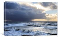 Heavy Shower over Croyde Bay, Canvas Print
