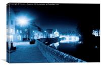 Fye Bridge At Night, Norwich, England, Canvas Print