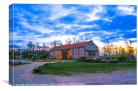 Whitlingham Visitor Centre at Sunset, U.K, Canvas Print