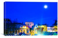 Full Moon Above Norwich Castle, U.K, Canvas Print