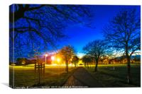 Eaton Park at Sunset, Norwich, U.K, Canvas Print