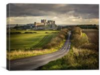 The Road to Bamburgh, Canvas Print