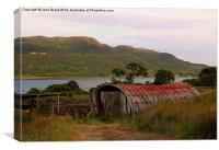 Barn on the Kyles of Bute, Canvas Print