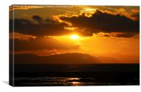 Golden Sunset - Landscape A, Canvas Print