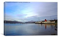 The Maid of the Loch on Loch Lomond, Canvas Print