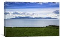 Isle of Arran from Ardlamont , Canvas Print