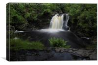 The falls of Falloch in Loch Lomond , Canvas Print