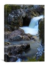 The River Coupall Waterfall , Canvas Print