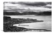 View from Lyle Hill in Greenock, Canvas Print