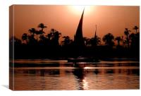 Nile Feluccas at Sunset, Canvas Print