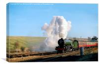 Green Arrow Departing from Hellifield, Canvas Print