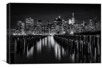 Darkness In New York City, Canvas Print