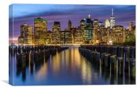 Bright Lights of New York City, Canvas Print