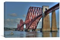 The Forth Bridge, South Queensferry, Scotland, Canvas Print