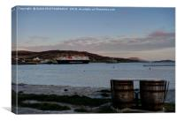 Castlebay Harbour, Isle of Barra, Outer Hebrides., Canvas Print