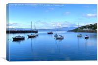 Mallaig Harbour, North West Scotland., Canvas Print