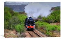 The Jacobite Steam Train, West Highland Line., Canvas Print