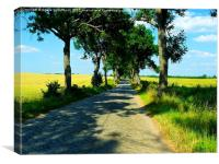 A Small Road on the Masurian Countryside, Canvas Print