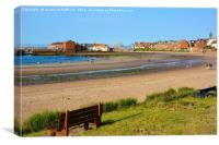 Summer in North Berwick, Canvas Print