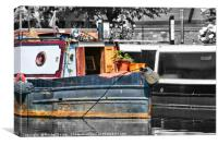 On the Canal, Canvas Print