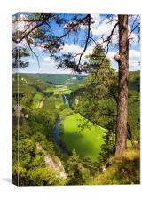 Donautal Danube valley Germany, Canvas Print