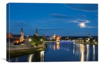 Inverness in the Moonlight, Canvas Print
