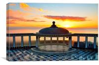 Sunrise at the Spa, Canvas Print