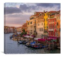 View From The Rialto Bridge, Canvas Print